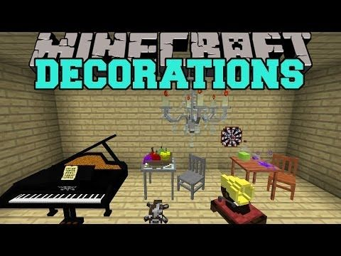 Minecraft: DECORATIONS (TOYS, FURNITURE, MUSICAL INSTRUMENTS, & MORE!) Mod Showcase