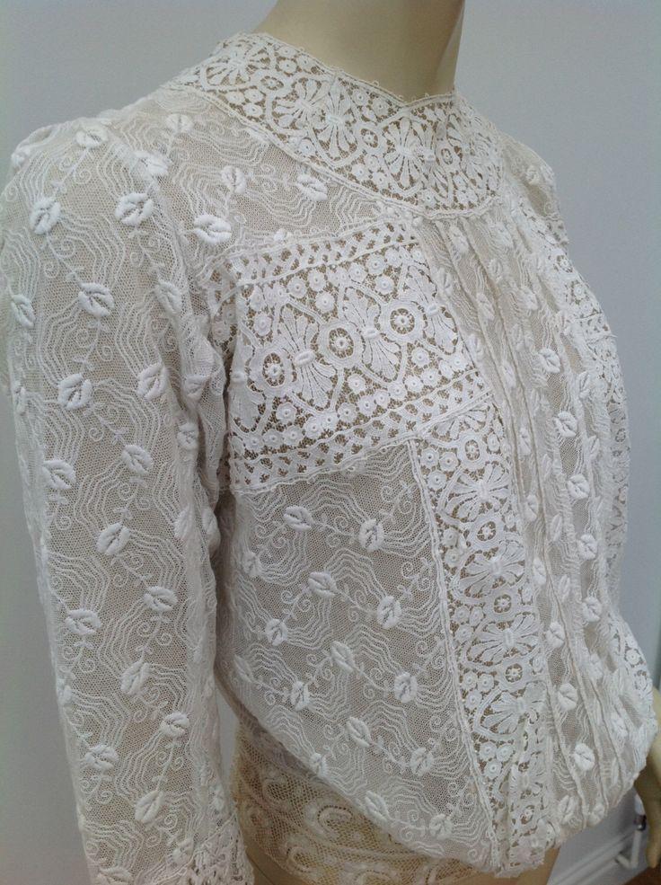 Beautiful Edwardian lace blouse antique vintage by SallyHoban on Etsy https://www.etsy.com/au/listing/455930716/beautiful-edwardian-lace-blouse-antique