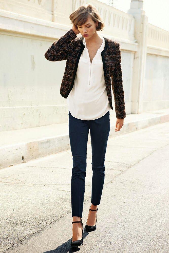 Karlie Kloss for Next Fall Winter 2013 - longer shirt with shorter blazer