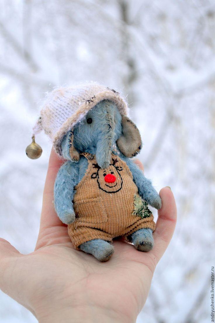 Тедди слоник Филипп - голубой, слон, слоник, друзья тедди, друзья мишек тедди