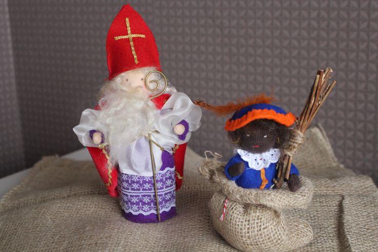 Sinterklaas, saint nicholas, Sankt Niklas, Zwarte Piet, Piet, Knecht, Waldorf, Vrije School, DIY, handmade, handgemaakt, seizoentafel, winter, Schwarz