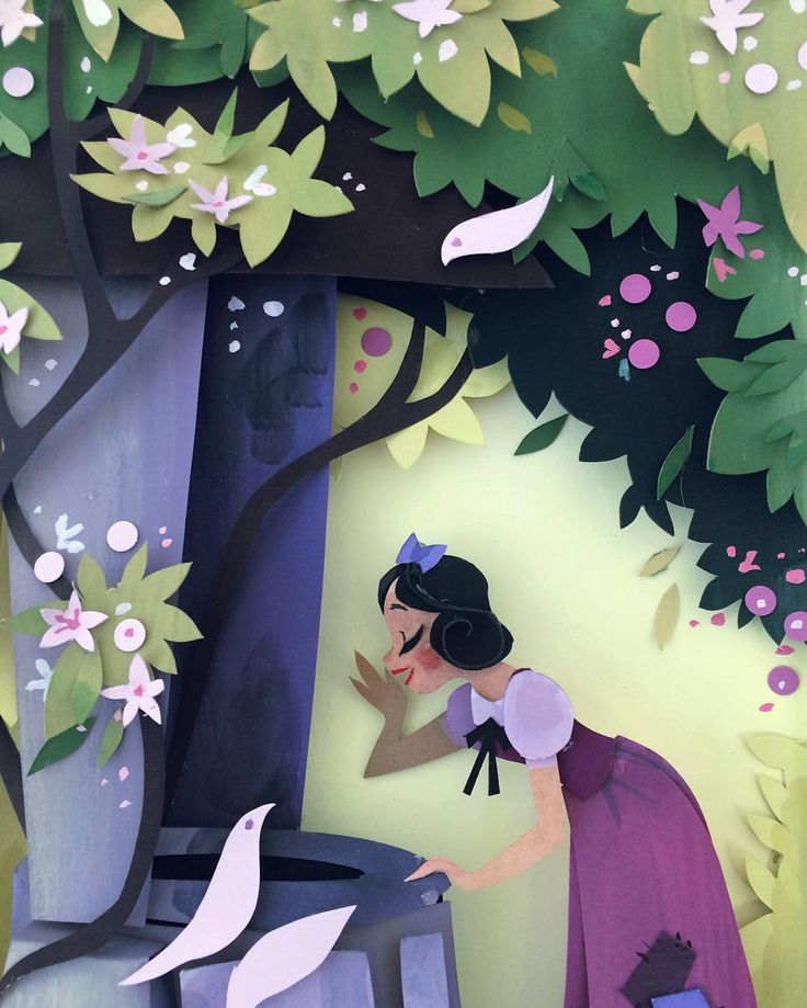In honor of yesterday's Snow White release! You can see the making of this piece in the Iconography segment on the new Blu Ray!