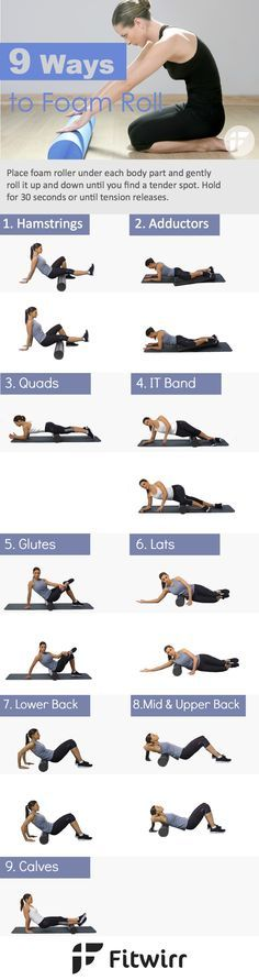 9 simple ways to use your foam roller to reduce your muscle aches and pains. Find a tender area and hold it for 20-30 seconds.