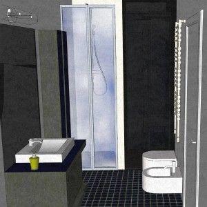 In entrambi i bagni i box sono in muratura e a filo pavimento. È una scelta soprattutto estetica, perché la continuità del pavimento aiuta a fare sembrare lo spazio più ampio.