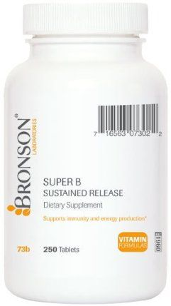 Super B Sustained Release 250 Tablets by Bronson Laboratories. $22.98. Sustained release medium.. The same high-potency B-complex formula as Super B, but in a sustained release formula to help ensure you're absorbing a little at a time throughout your day.