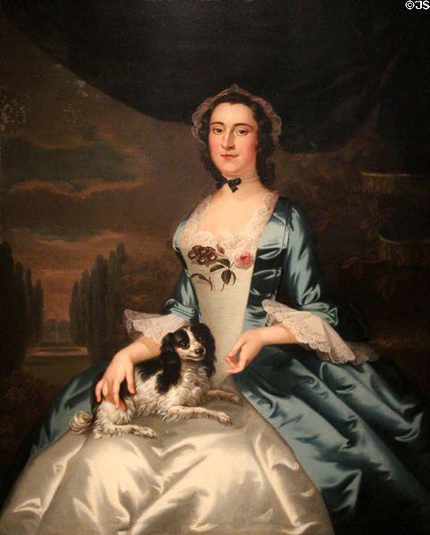 Mrs. Thomas Dongan portrait (c1749-52) by John Wollaston at Museum of Fine Arts. Boston, MA.