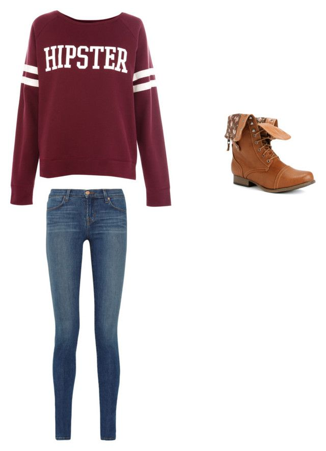 School by ana-johnston on Polyvore featuring polyvore, fashion, style, Pull&Bear, J Brand and clothing