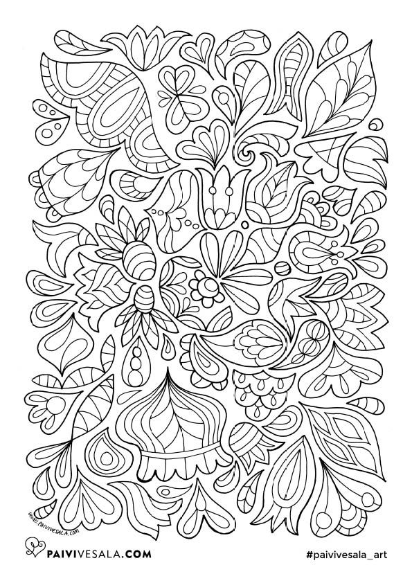 Free printable coloring page from Mental Images vol 1 coloring book