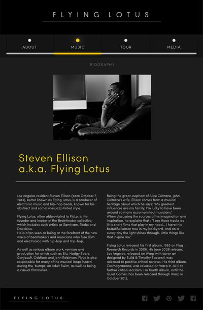 Flying Lotus Web Concept on Behance