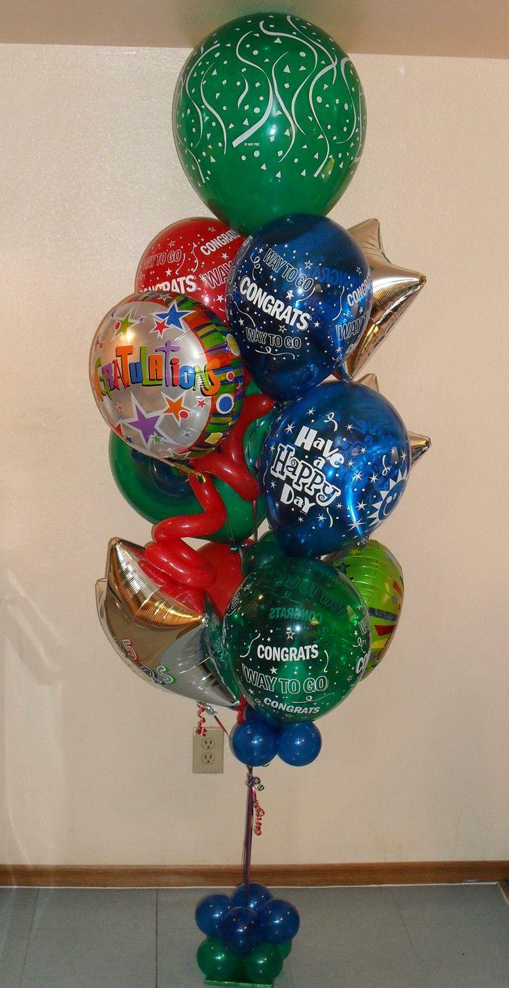 Hip hip hooray Congratulations balloon bouquet small $80.