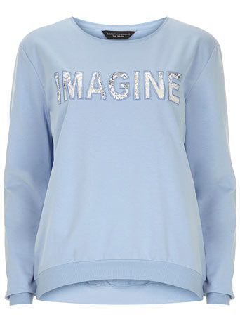 Blue imagine slogan sweat - New In Clothing  - New In