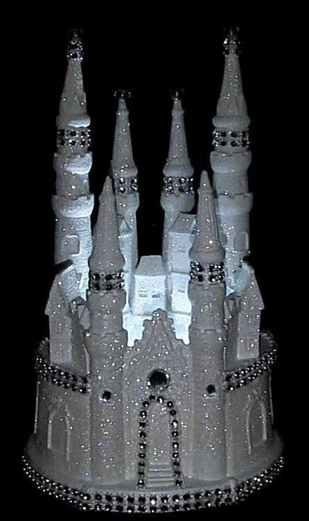 CINDERELLA+CASTLE+LIGHTED+WEDDING+CAKE+TOPPER+FAIRYTALE+