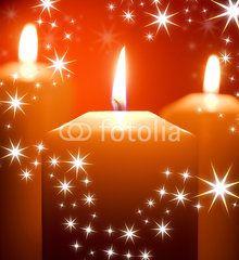 Kerzen, Sterne, Weihnachtskarte, Weihnachtszeit, dritter Advent