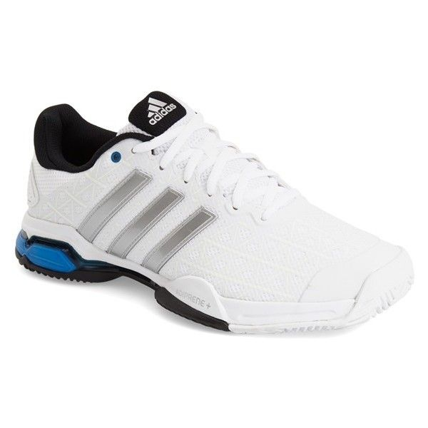 Men's Adidas 'Barricade Club' Sneaker (290 BRL) ❤ liked on Polyvore featuring men's fashion, men's shoes, men's sneakers, mens sneakers, adidas mens shoes, mens shoes and adidas mens sneakers