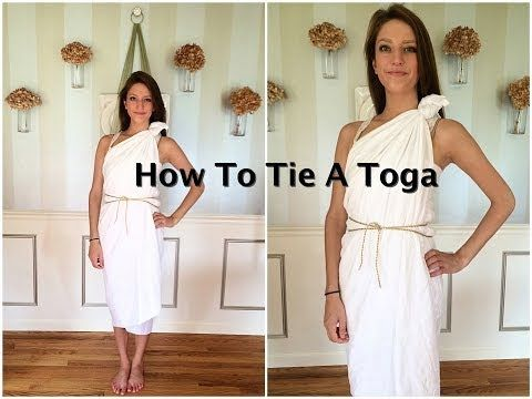 How To Tie A Toga Tutorial - YouTube