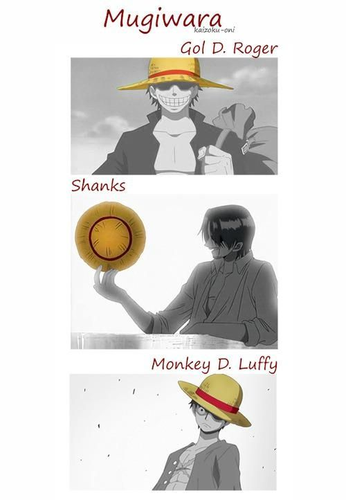 One Piece ~ Gol D. Roger, Shanks, and Monkey D. Luffy -- The Strawhats