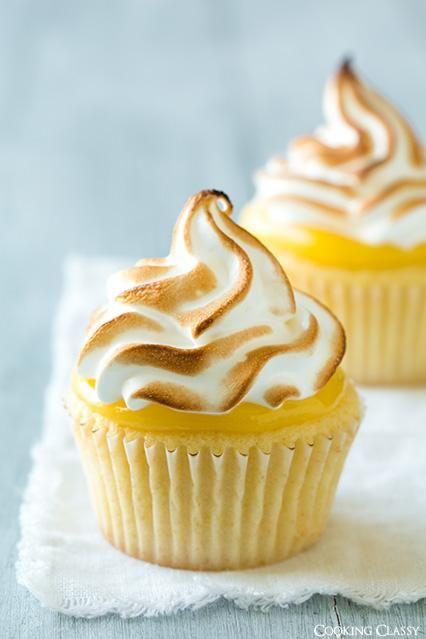 DIY Cupcake Recipes : DIY Lemon Meringue Cupcakes
