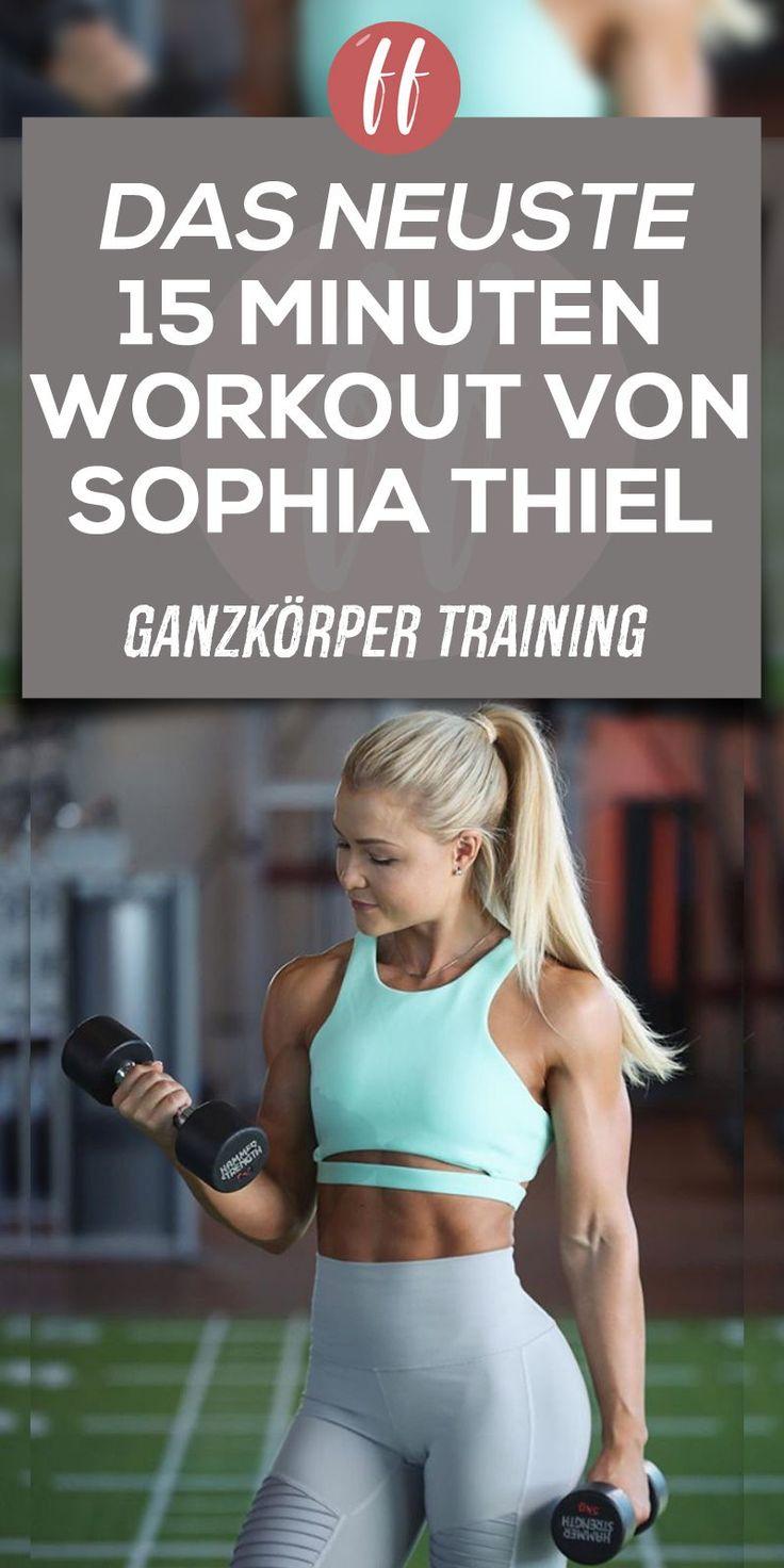 Das Sophia Thiel Training ist schon immer effektiv…