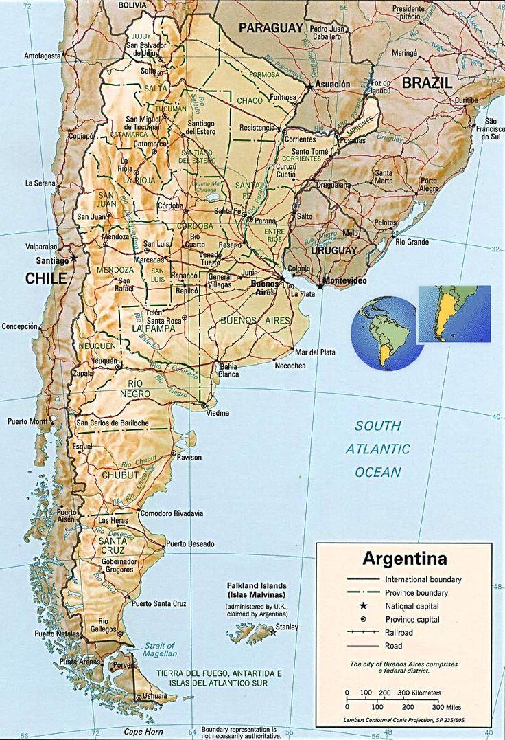 Best Argentina Map Ideas On Pinterest Uruguay Map Argentina - Argentina 3d map