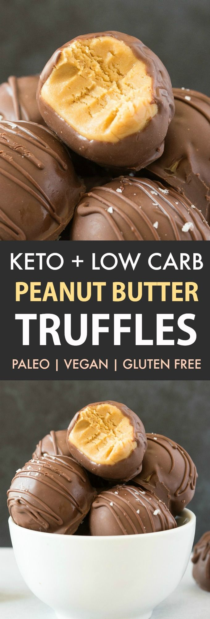 These Keto Peanut Butter Truffles are ADDICTIVE! 4…
