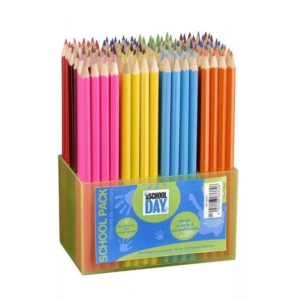 Bo/îte de 144 crayons de couleur couleurs assorties