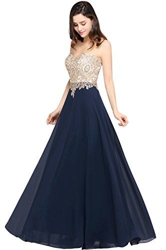 975b46474ad MisShow A line 2017 Long Gold Lace Womens Evening Dresses Plus Size 10 US  Navy About USMisShow is a registered brand and we have our own trademark.