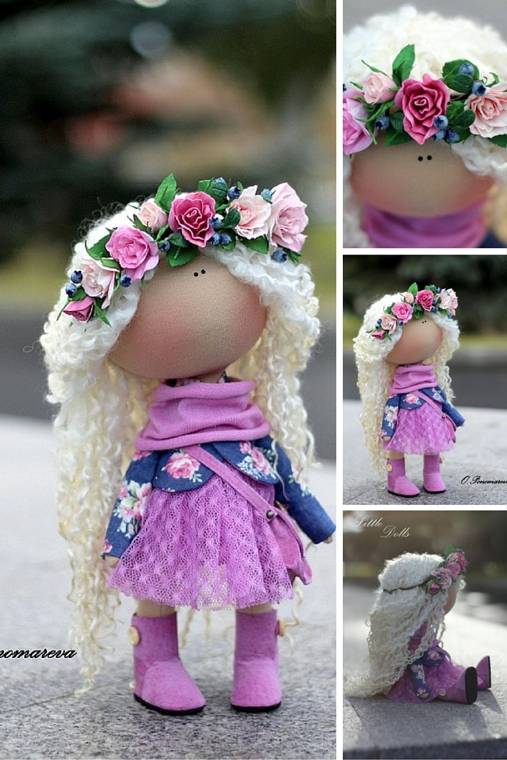 Baby doll handmade, tilda doll, textile doll, fabric doll, collection doll, nursery decor doll