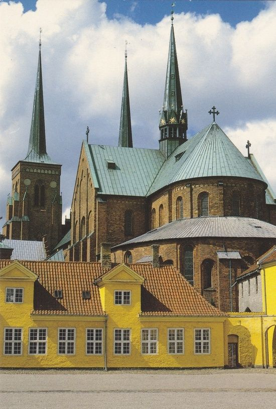 Roskilde Cathedral, Denmark. The first Gothic cathedral to be build in brick.