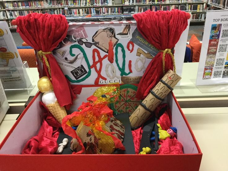 Year 7 Italian assignment on display in the library