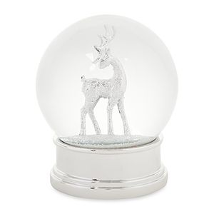 Silver Stag Snow Globe