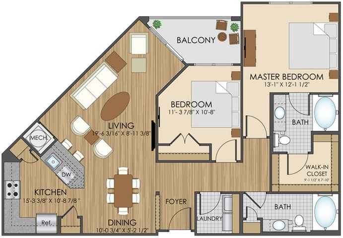 Best 25 apartment floor plans ideas on pinterest sims 3 - 1 bedroom apartments in gaithersburg md ...