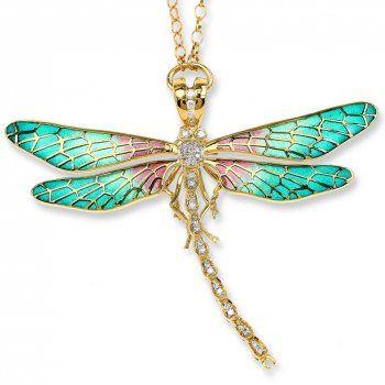 Enamel 18k Dragonfly