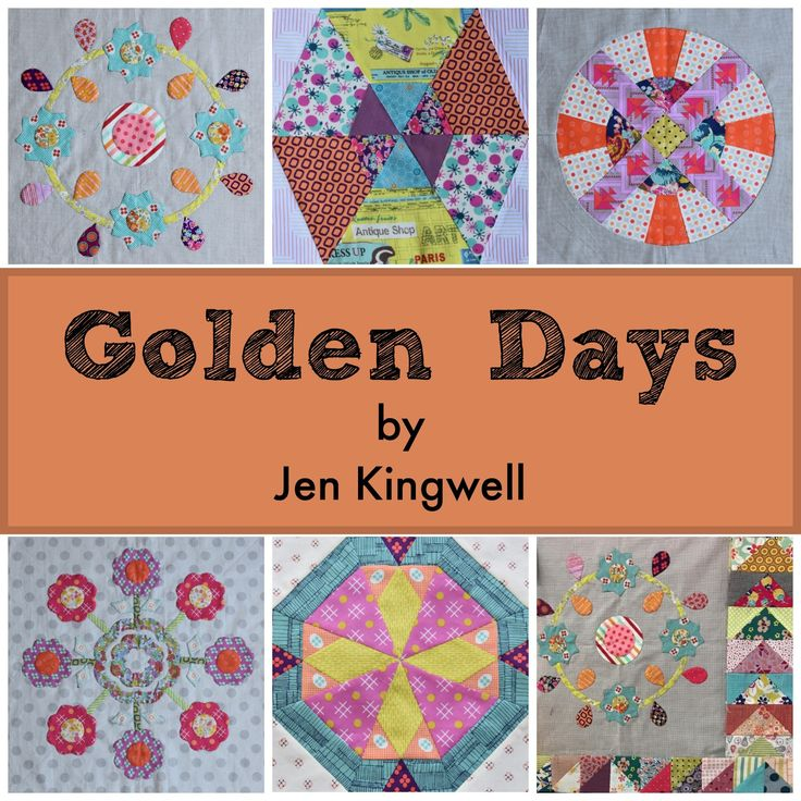 **DISCOUNT/COUPON CODES NOT VALID FOR PROGRAM REGISTRATION** **PHOTOS ARE OF JEN KINGWELL'S WORK IN PROGRESS GOLDEN DAYS BLOCK.  RED THREAD STUDIO WILL BEGIN SH