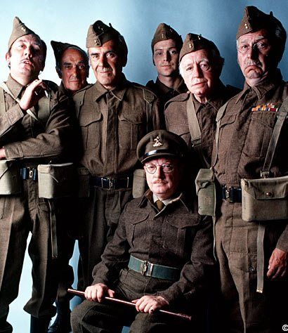 "BBC tv screened the sit-com 'Dad's Army' from 1968 onwards. Set in a Home Guard unit during WW2, the main characters entered the national psyche, and gave us enduring catch phrases such as ""stupid boy"", ""we're doomed"" and ""don't panic"". Actors Arthur Lowe, James Beck, John Lawrie, John Le Mesurier, Ian Lavender, Arnold Ridley and Clive Dunn played out one of the UK's finest comedy series, scripted by Jimmy Perry and David Croft."