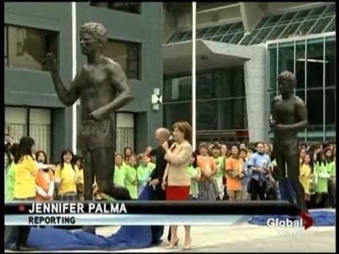 Vancouver Terry Fox Memorial Unveiling