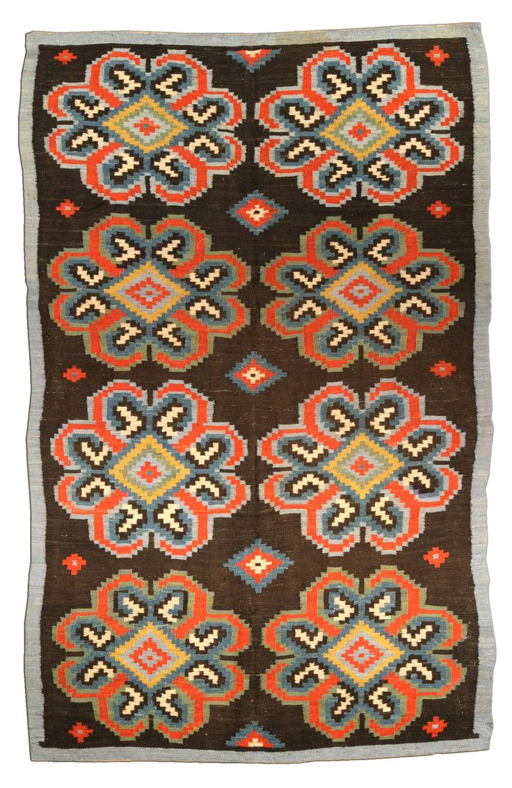 A Russian Bessarabian carpet BB4438 - An early 20th century Russian  Bessarabian rug, the brown