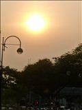 Beautiful sun in Singapore
