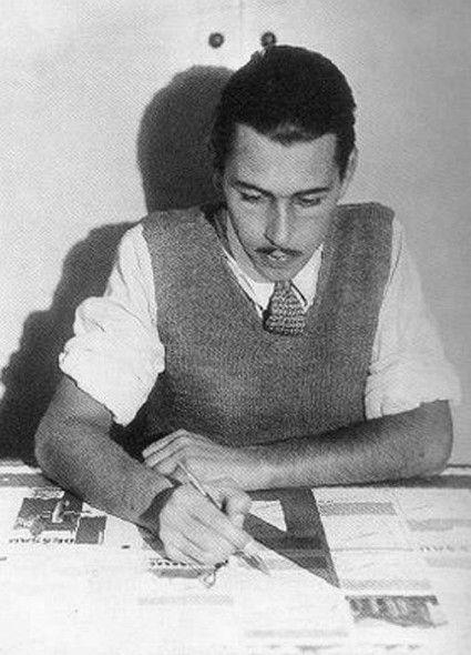 Bauhaus Student & Advertising Director Herbert Bayer, 1926
