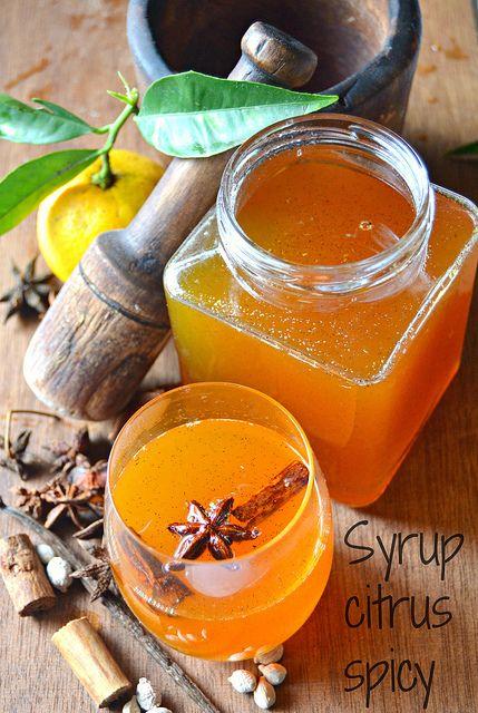 syrup citrus spicy Sciroppo di agrumi speziato