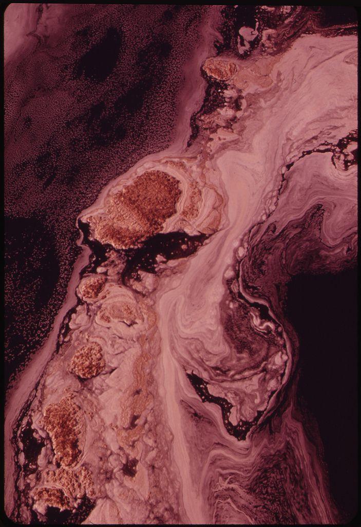 Marsala, Pantone color for 2015 - Foam on the Polluted Androscoggin River, 1973