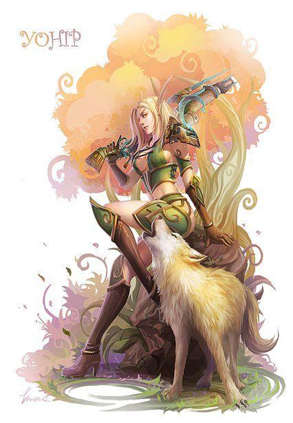 Fox + Blood Elf Hunter = Cutest little murderer couple ever!