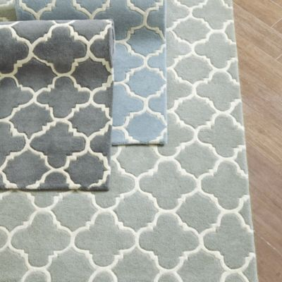 Blair Hand Tufted Rug  | Ballard Designs - like the gray color. Pattern adds interest but in gray isn't too 'look at me'.
