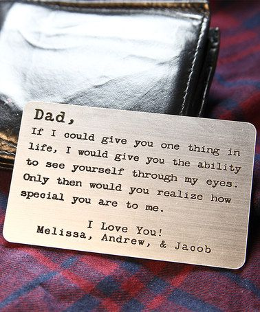 Look at this #zulilyfind! 'If I Could Give You One Thing' Personalized Wallet Card Insert #zulilyfinds