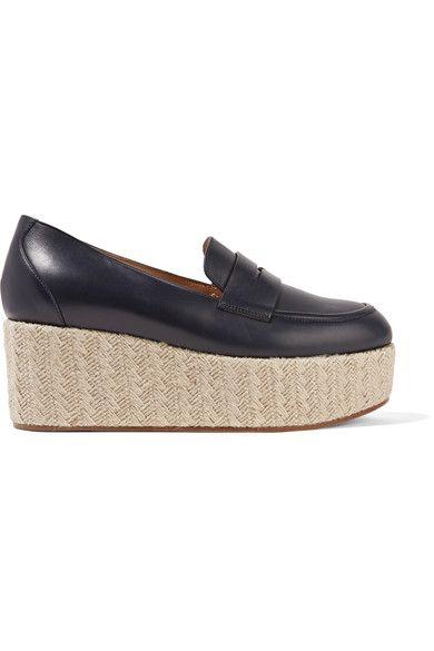 Gabriela Hearst - Brucco Leather Platform Loafers - Navy - IT40.5