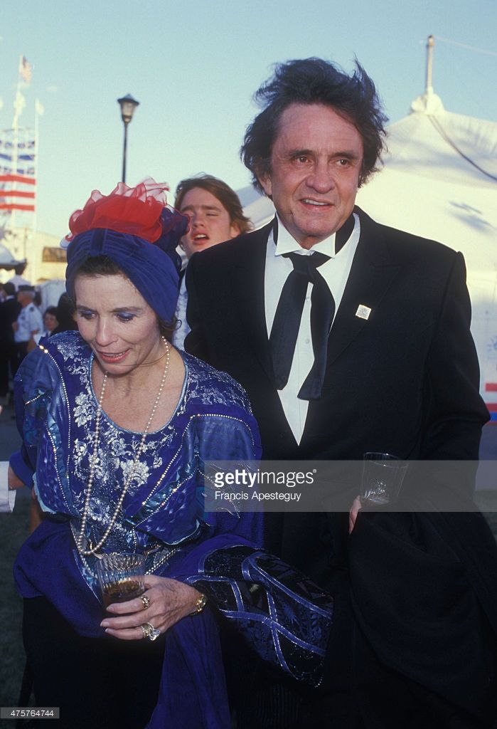 New York Johnny Cash And June Carter Attend The Celebrations For Anniversary Of Statue Liberty