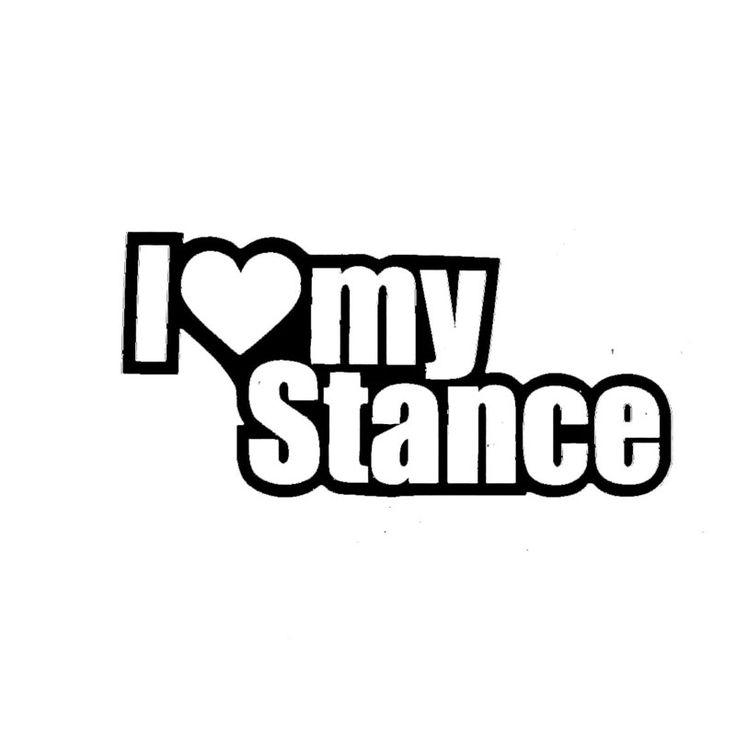 Wholesale 10pcs/lot 20pcs/lot I Love My Stance Lowered Slammed Stanced Camber Window Sticker Vinyl Decal
