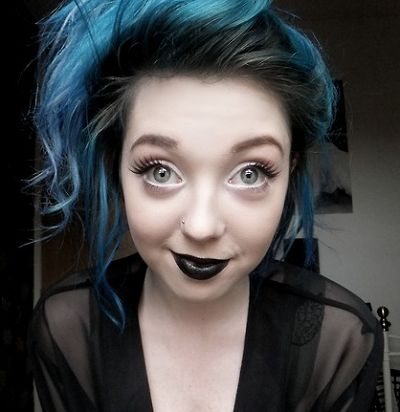 blue hair dye tips -- for real this girl is just precious.