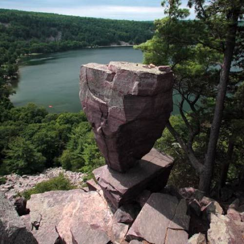 25 Gorgeous Hikes You Have to Do in Your Lifetime   East Bluff Trail/Balanced Rock Trail/Devil's Doorway Trail (Devil's Lake State Park) in Baraboo, Wisconsin
