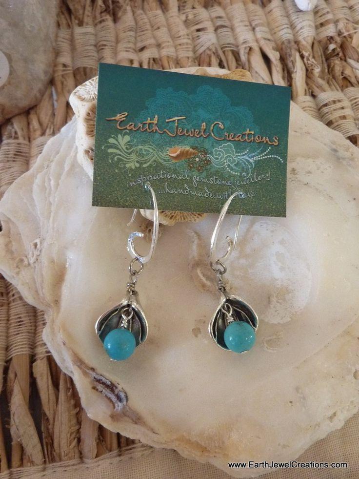Lily Earrings - Inspirational handmade gemstone jewellery Earth Jewel Creations Australia