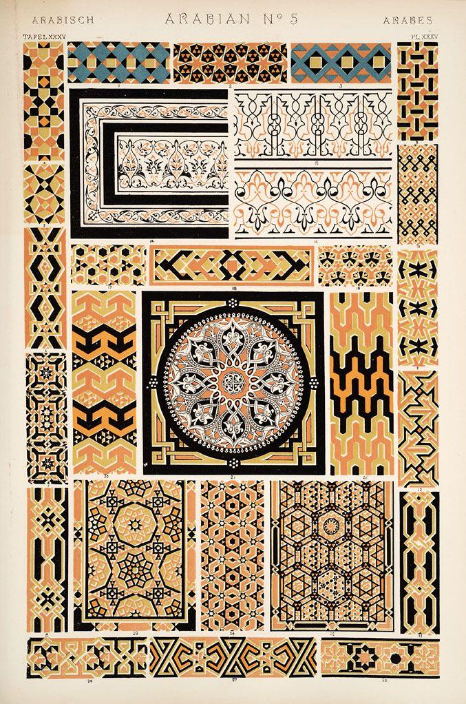 Jones, Owen, 1809-1874. / The grammar of ornament  (1910). Arabian nr. 5